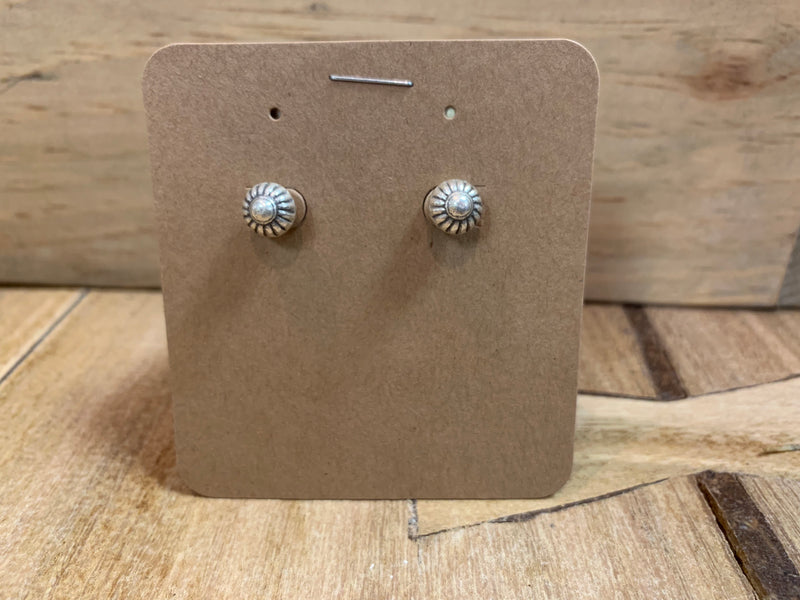 Earring - silver stud mixed - MULTIPLE STYLES