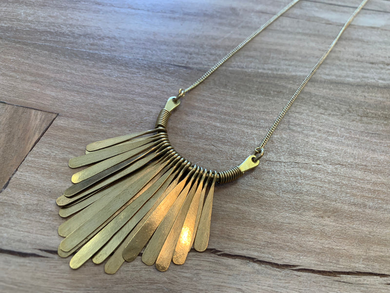 Necklace - fringe chain LN
