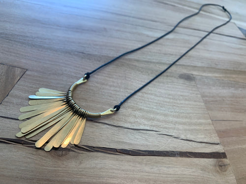 Necklace - fringe cord Long & Narrow