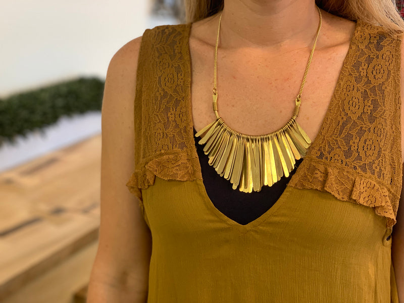 Necklace - fringe chain SW