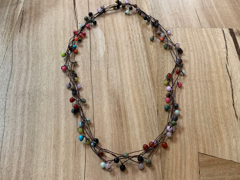 Necklace - glass stone mixed (5)
