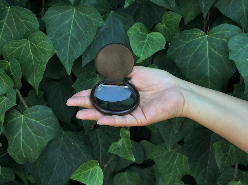 Compact Mirror w/ Brocade Pouch