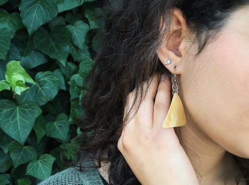 Triangle M.O.P. Earrings