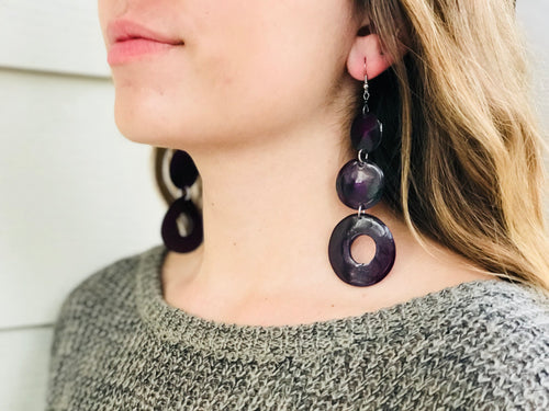 Earrings Cowhorn Long 3