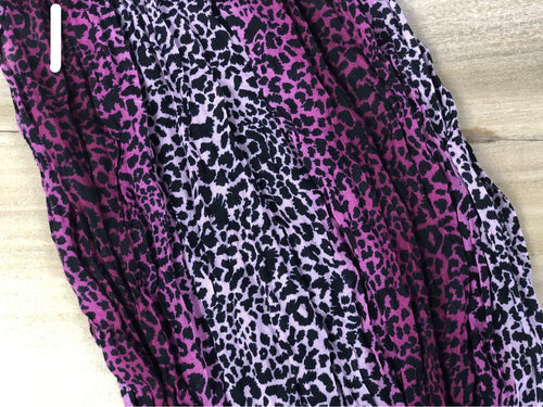 Cheetah twisted scarf