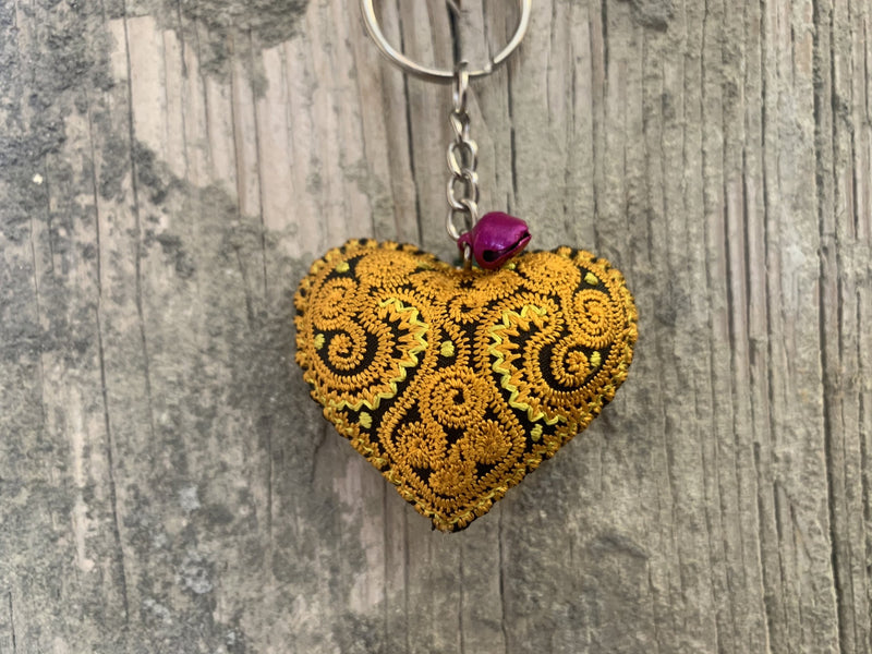 Keyholder - heart embroidered MORE COLORS