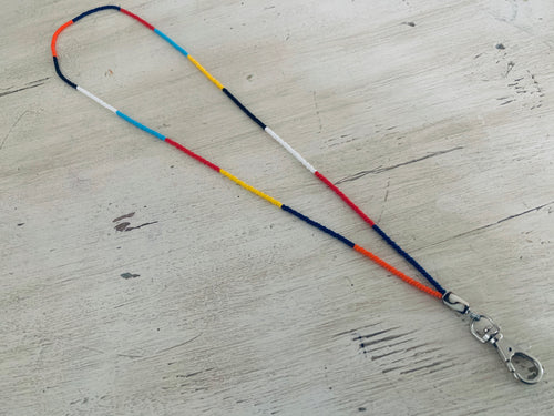 Beaded lanyard- Masai colors
