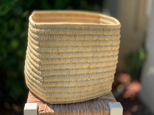 Rectangle river reed basket