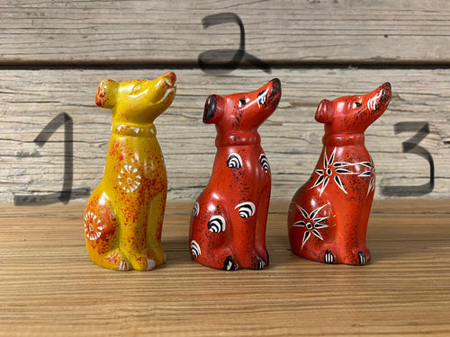 Soapstone Sitting Dogs