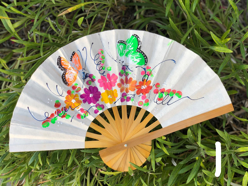 Handpainted fan