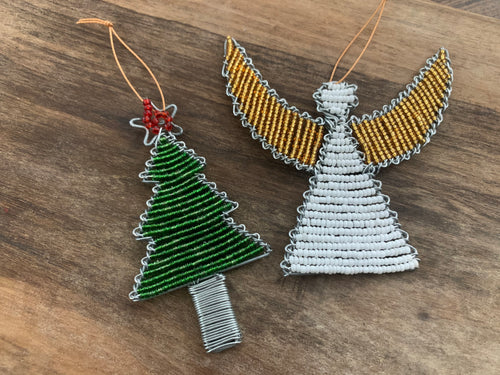 Bead & Wire Christmas Ornaments
