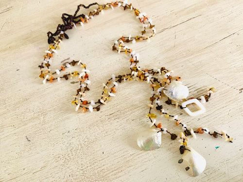 Necklace- long with shells