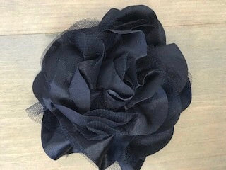 Flower Black Lace Large