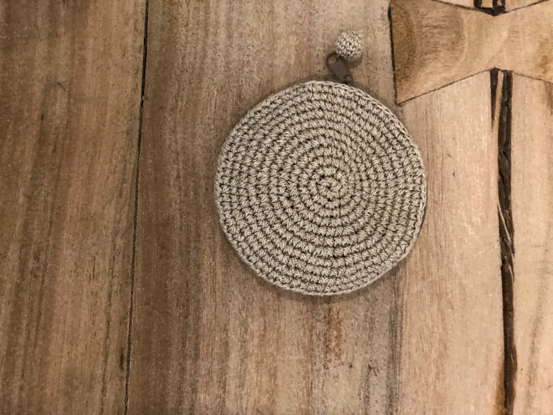 Hemp coin purse - circle