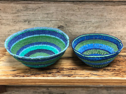 Recycled flip flop bowls - two sizes