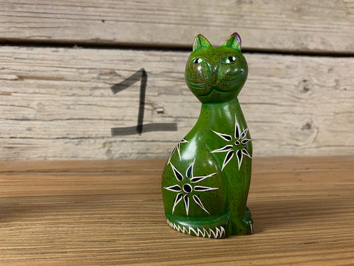 Soapstone Side Sitting Cats