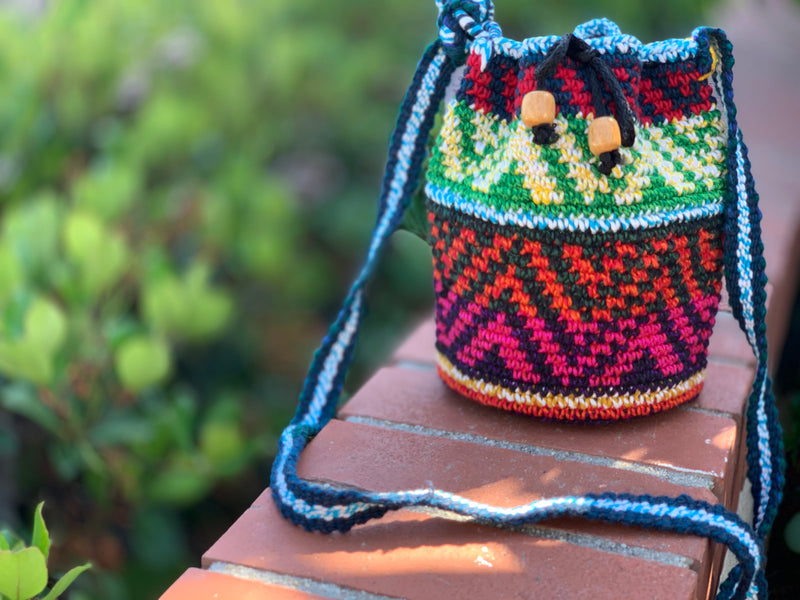 Crochet bag - xs chevron