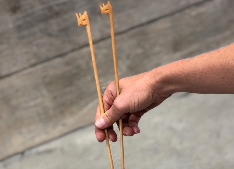 Wooden chopsticks - rhino