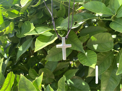 Necklace - jade cross - TWO COLORS