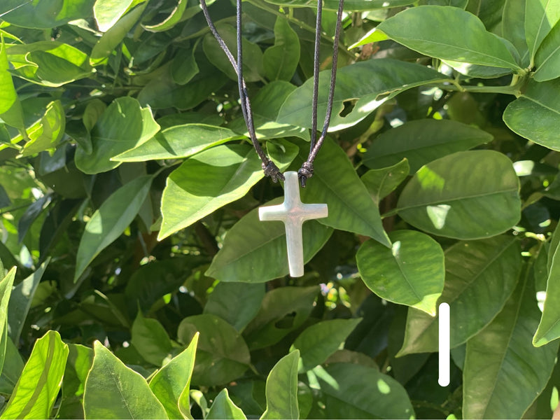 Necklace - jade cross - FOUR COLORS