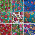 Kantha King sized blankets - flower or birds
