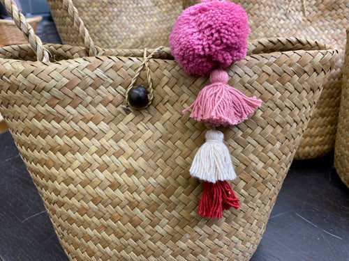 Rattan double walled small purse