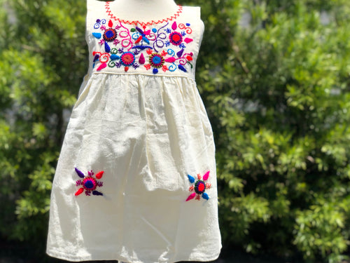 Girls Guatemalan flower dress - MORE COLORS