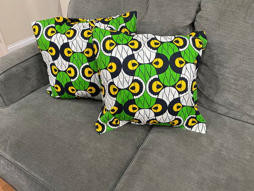 African patch pillow cases - set of 2
