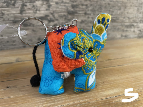 Keychain- stuffed elephant
