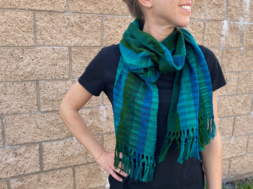 Large Handwoven Cotton Scarf