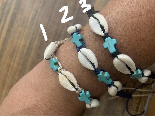 Cowrie Shell Bracelet - MORE COLORS
