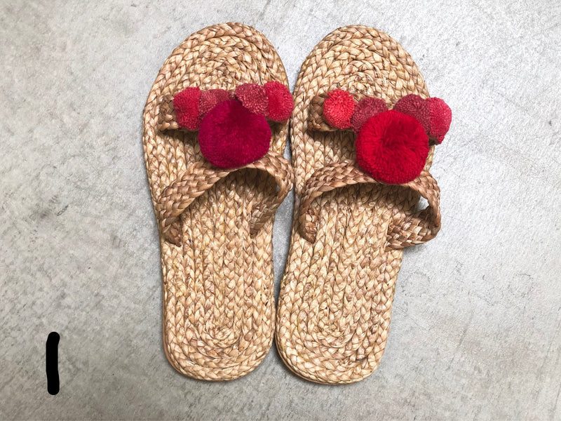 Hyacinth pom pom sandals size 43/44 - women's 10.5-11.5