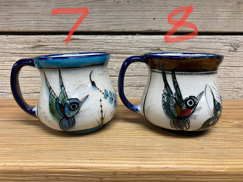 Ceramic Mugs - One of a Kind hummingbirds