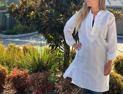 Tunic top - all white