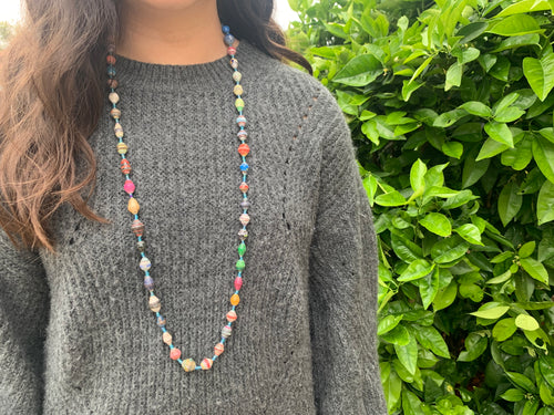 Paper bead necklace - MORE COLORS