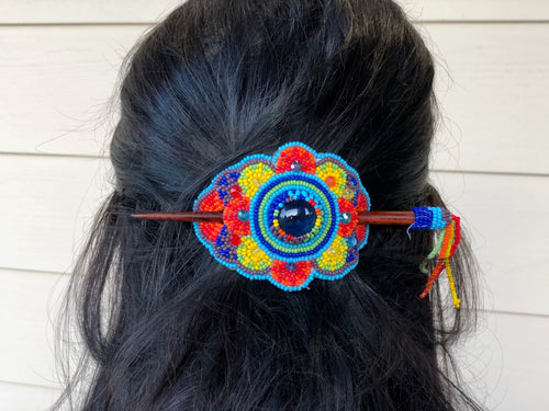 Hair stick barrette