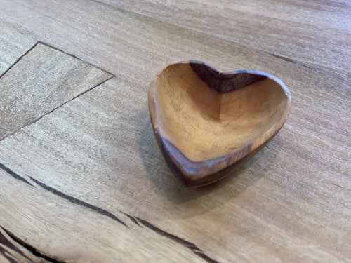 Tiny wooden heart bowl