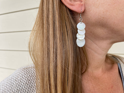 Mother of Pearl Layer Earrings