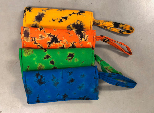 Tie dye wallet with wristlet