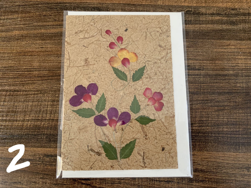 Card - nature flowers