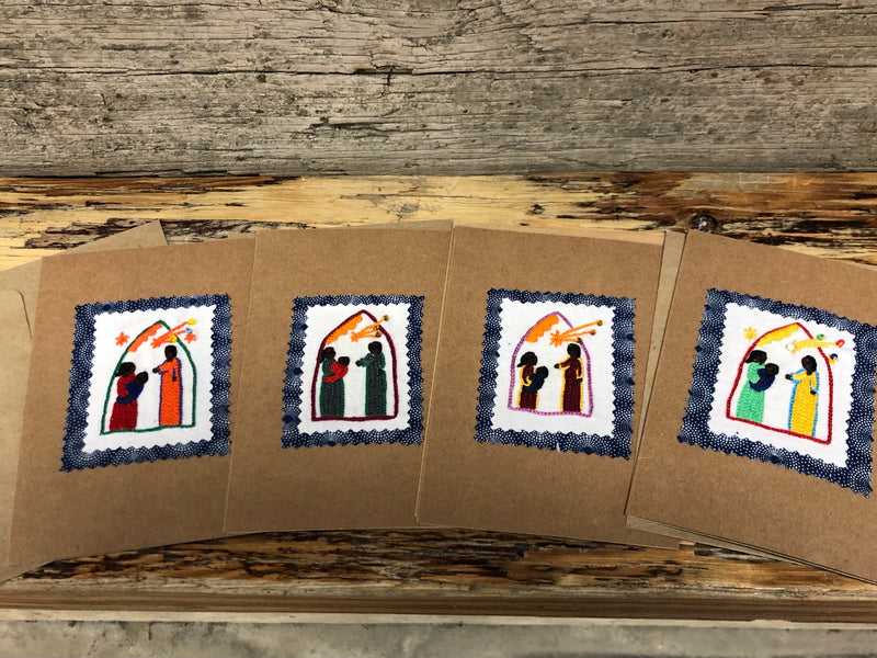 Embroidered Christmas Card - Nativity