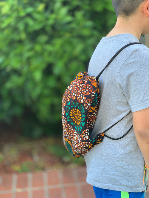 Drawstring backpack - kitenge