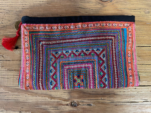Cosmetic bag - hill tribe orange