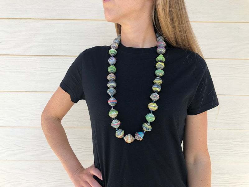 Magazine bead necklace - Fat & Long MORE COLORS