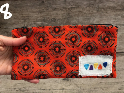 Cosmetic bag med - assorted patterns