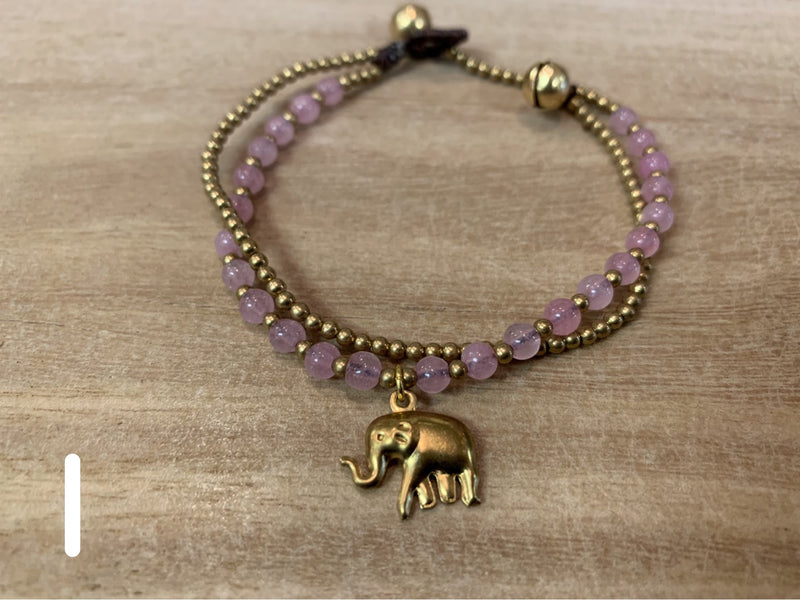 Bracelet - fashion stone elephant