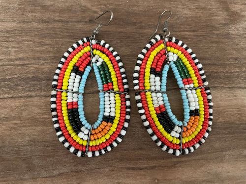 Earrings - masai beaded traditional - MORE STYLES