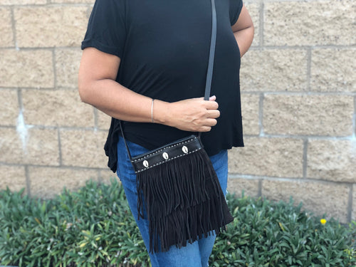 One of a Kind Fringe crossbody bag
