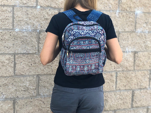 Kantha backpack purse