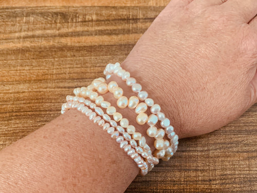 Bracelet - Pearl mixed pink